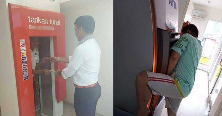 7 Kelakuan orang Indonesia saat di ATM ini nyelenehnya bikin ngakak