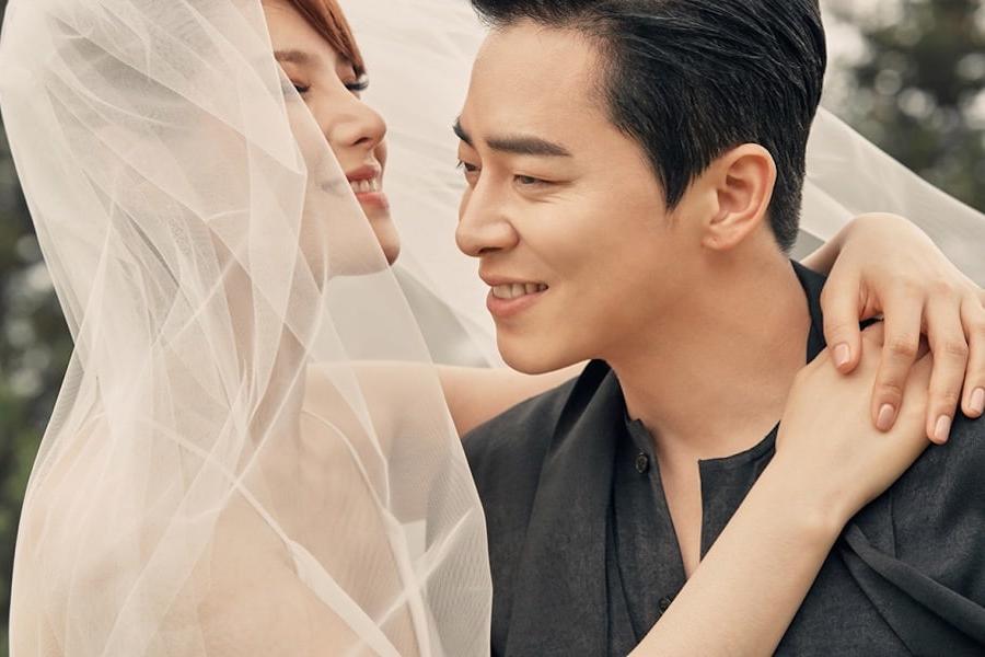 5 Tahun pacaran, aktor Korea Jo Jung-suk resmi menikah dengan Gummy