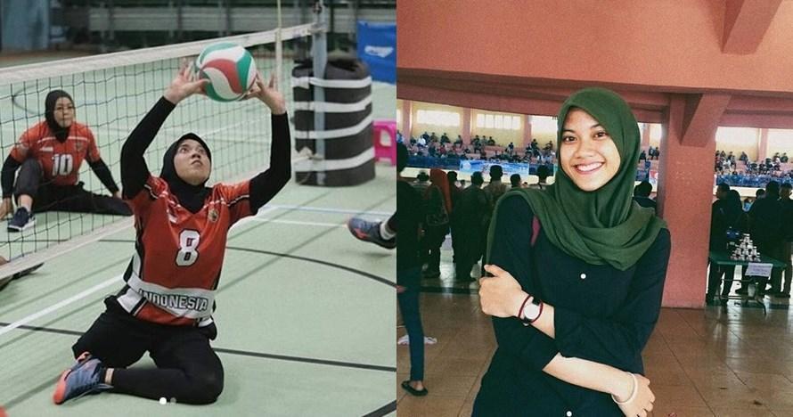 10 Foto perjuangan Nina Gusmita, atlet voli cantik di Asian Para Games