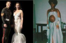 10 Gaun pengantin ini desainnya nyeleneh abis, bikin mikir kemana mana
