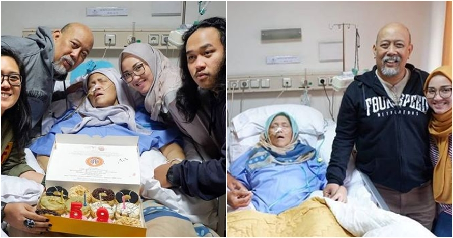 Momen haru Indro Warkop rayakan ulang tahun istri yang terbaring sakit