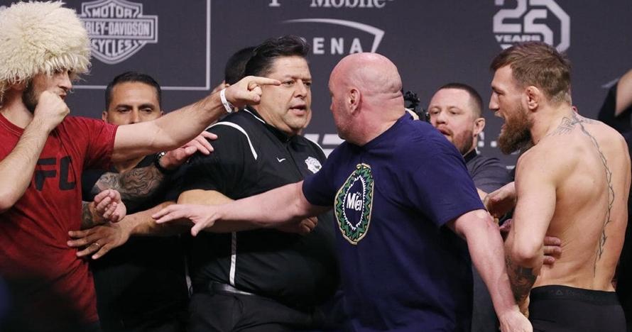 6 Momen McGregor rendahkan Khabib sebelum akhirnya takluk di ring UFC