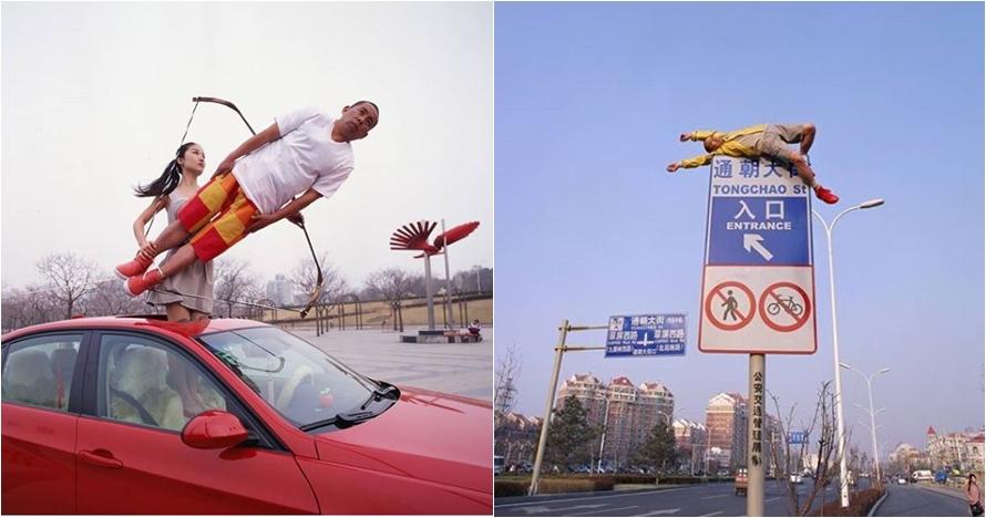 10 Editan foto manusia melayang ini bikin kamu tepuk jidat
