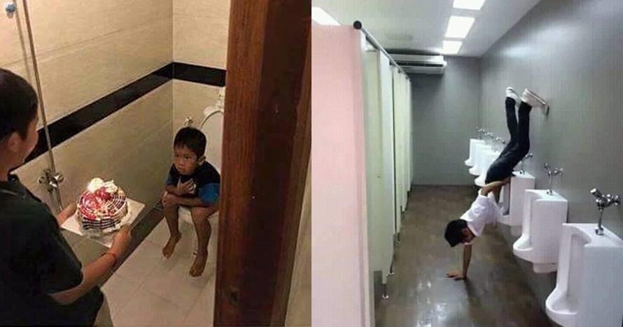 7 Tingkah absurd orang di toilet ini bikin nggak jadi kebelet