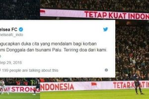 Ini dukungan 6 klub bola top Eropa untuk korban gempa Palu-Donggala