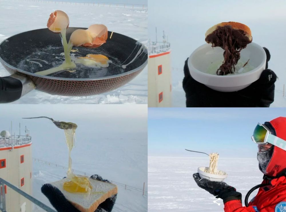 makan mi suhu -60 derajat © Twitter/@semestasains