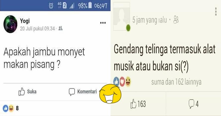 9 Pertanyaan orang Indonesia di media sosial, kocaknya nggak ada lawan