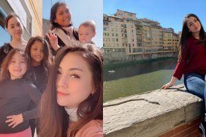 Pulang kampung, ini 10 momen Celine Evangelista momong anak di Italia