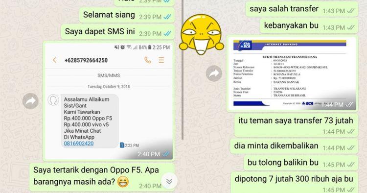 12 Chat Usilin Penipu Online Shop Ini Gereget Abis Endingnya Koc