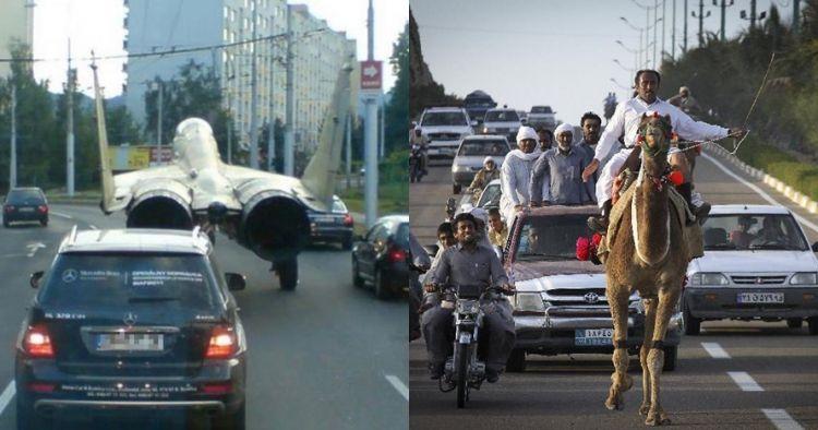 8 Potret penyebab kemacetan ini absurd abis, bikin geleng kepala