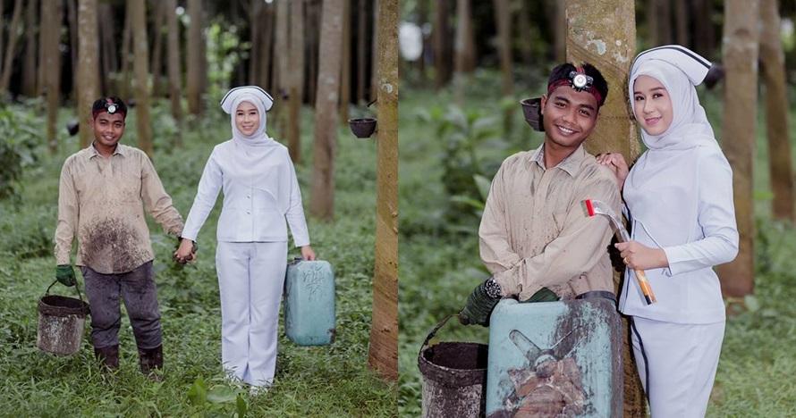 prewed di hutan karet © Facebook/tity.cha