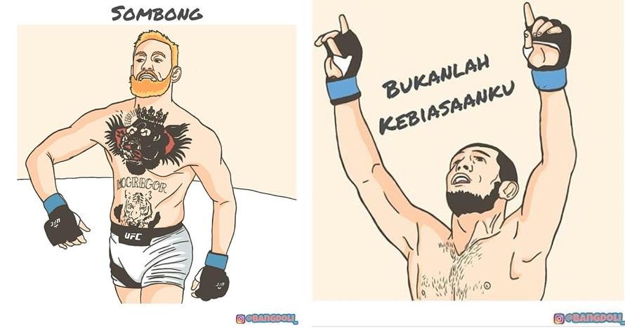 10 Ilustrasi Khabib vs McGregor ini sindirannya ngena banget