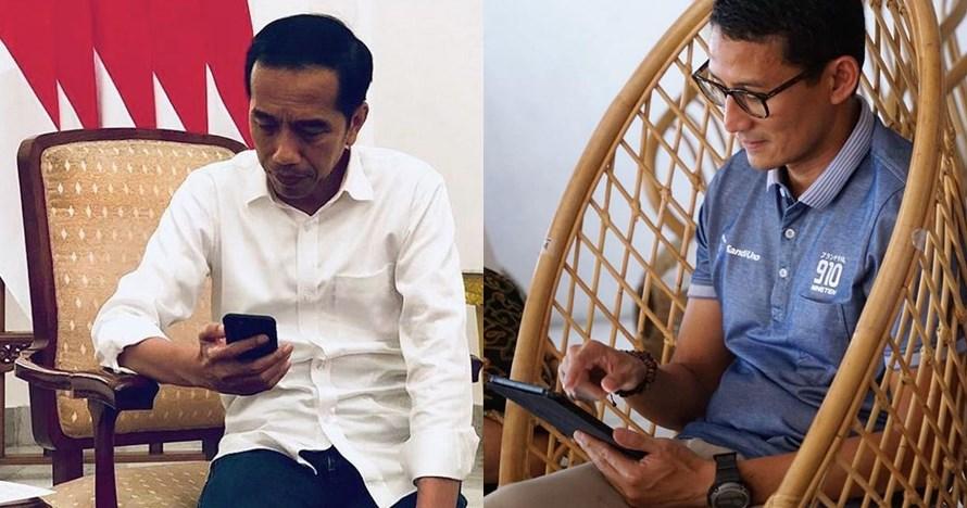 5 Momen Jokowi & Sandi unggah foto pose mirip dalam waktu berdekatan