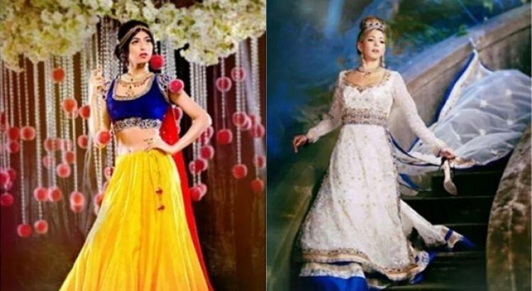 Desain 9 gaun pengantin terinspirasi putri Disney ini unik dan elegan