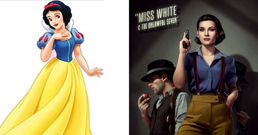 Begini jadinya kalau 9 putri Disney jadi cover novel kriminal