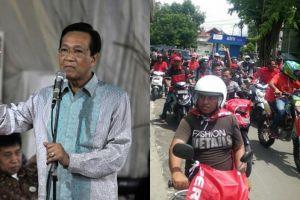 Momen Sri Sultan digeber motor peserta kampanye, reaksinya bikin salut