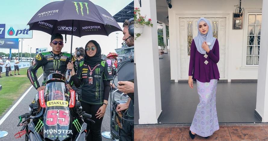 10 Pesona Suzana Manaf, hijaber yang jadi 'umbrella girl' MotoGP