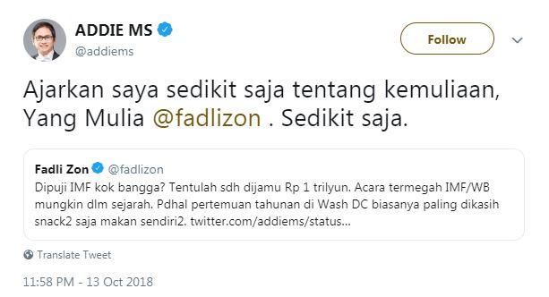 Cak Lontong sindir Fadli Zon © 2018 Twitter