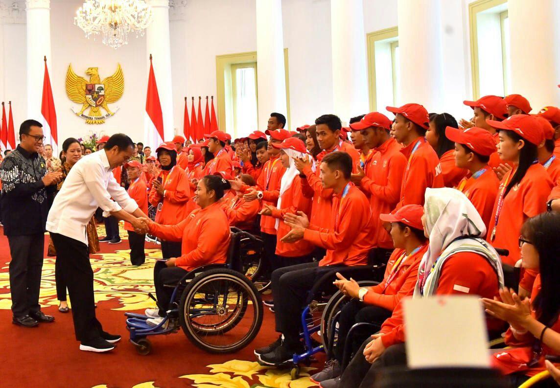 Ini kelakar Presiden Jokowi di hadapan atlet Asian Para Games