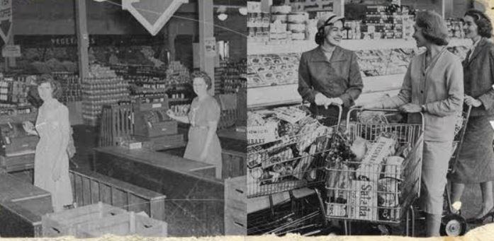 15 Potret lawas supermarket di Amerika Serikat, ada sejak 1930-an