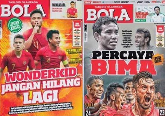 Kenang Tabloid Bola, ini 5 cover edisi Timnas Indonesia yang kece abis