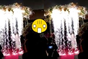 Pakai atraksi kembang api, acara resepsi pengantin ini berakhir pahit