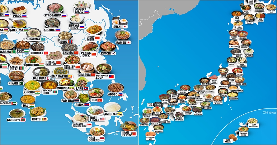 15 Peta unik gambarkan persebaran makanan dari berbagai negara