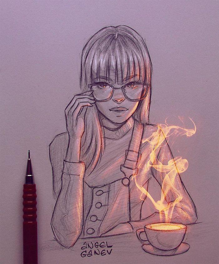 Bermodal Pensil 10 Sketsa Gambar Bercahaya Ini Bikin Takjub