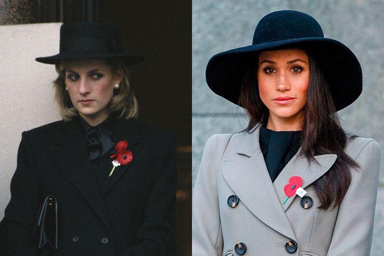 10 Bukti Meghan Markle punya fashion yang mirip dengan Putri Diana