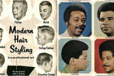 10 Poster langka model potongan rambut tahun 1950-1980, epik banget