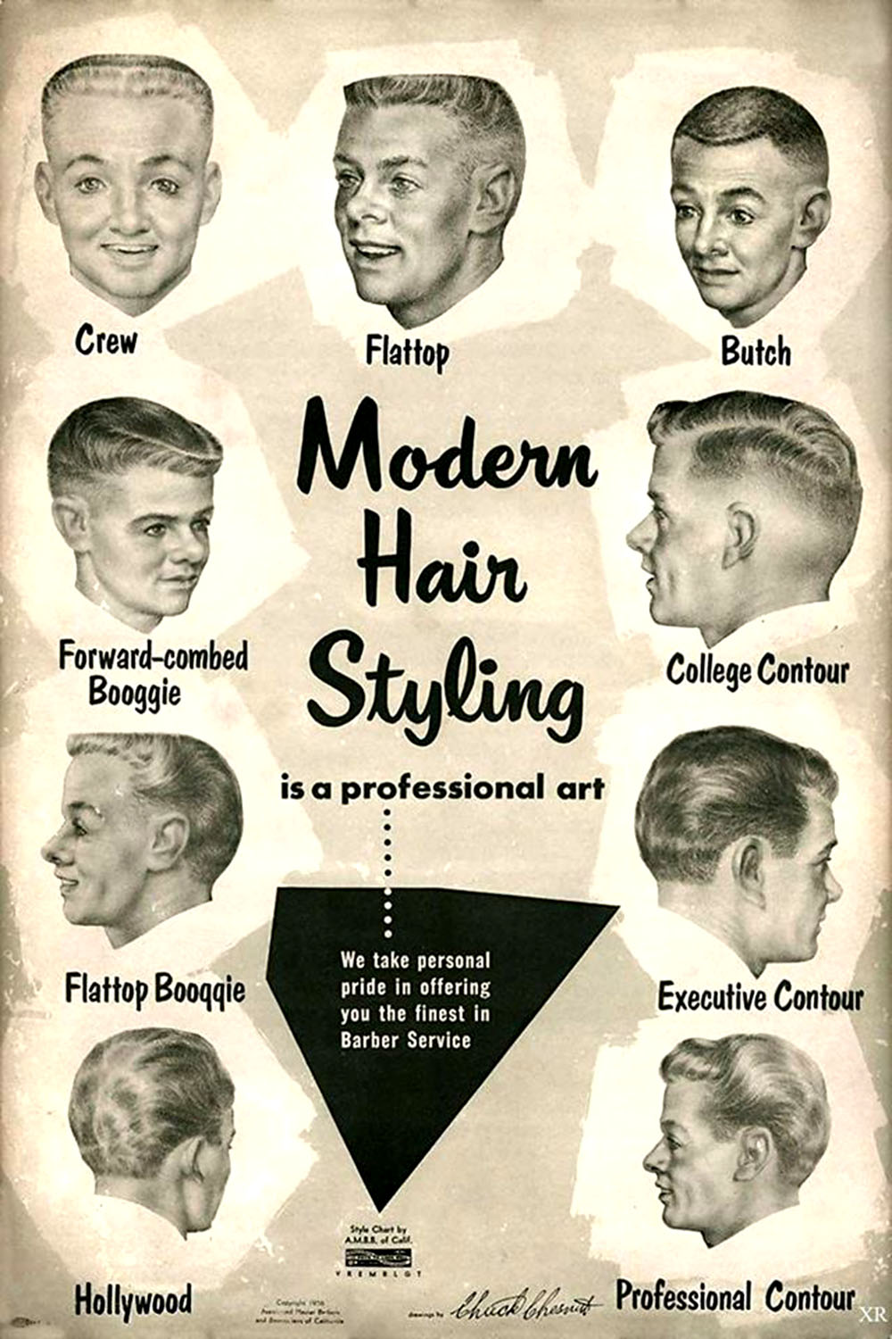 model rambut 1950-1980 © flashbak.com