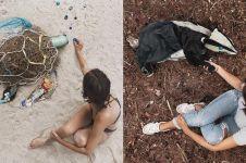 10 Kreasi seni bentuk hewan ini dari sampah plastik, super kreatif