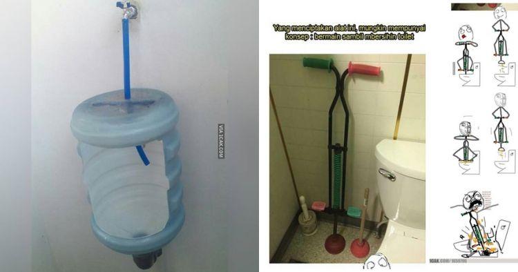 7 Benda nyeleneh di toilet ini bukti orang Indonesia kelewat inovatif