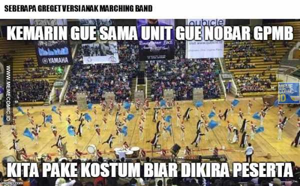 meme marching band facebook