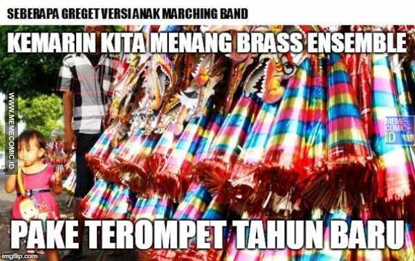 7 Meme \u002639;seberapa greget marching band\u002639; ini bikin ketawa geli