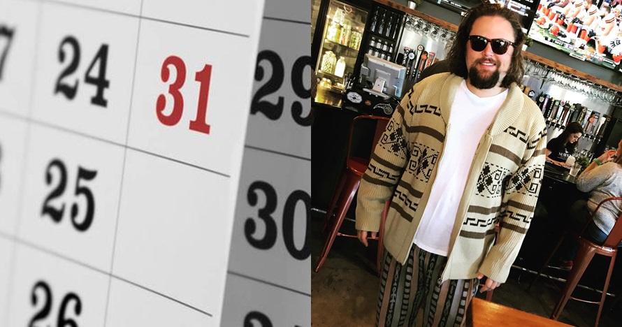 Pria ini bikin kalender bergambar dirinya, 9 penampakannya kocak