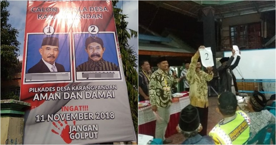 Beda tipis, nama dua calon kepala desa di Malang ini bikin susah milih