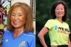 8 Potret Jeannie Rice, pemecah rekor maraton di usia 70 tahun