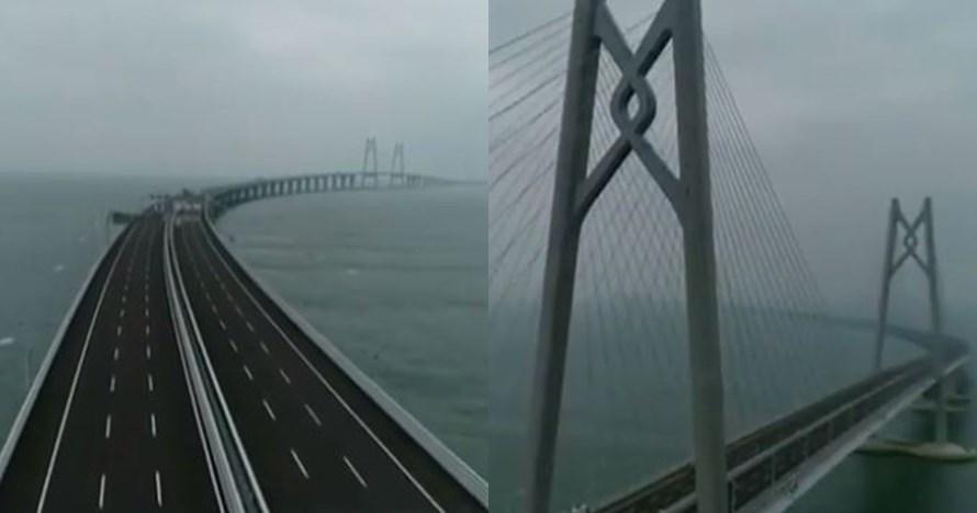 Ini jembatan terpanjang di dunia, panjangnya 55 km mirip Jakarta-Bogor