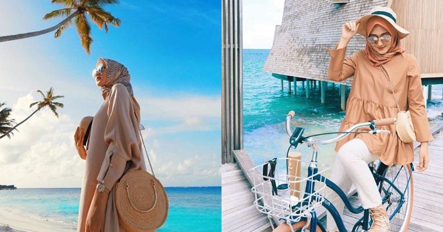 15 Gaya fashion Dian Pelangi saat ke pantai, bisa kamu tiru nih