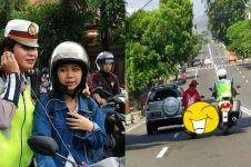 8 Momen kocak pengendara ditangkap polisi, bikin auto patuh aturan