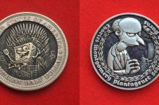 10 Karakter kartun ini diukir dalam koin, detailnya menakjubkan banget