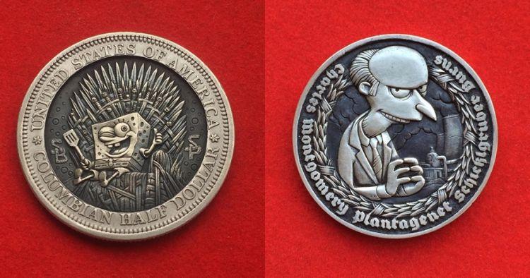 Gambar Uang Koin Kartun 10 Karakter Kartun Ini Diukir Dalam Koin Detailnya Menakjubkan B