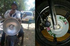7 Potret modifikasi kendaraan pakai alat dapur ini bikin tepuk jidat