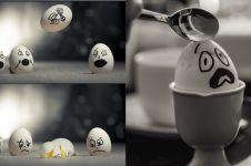 10 Foto still life pakai telur ini hasilnya bikin takjub, penuh makna