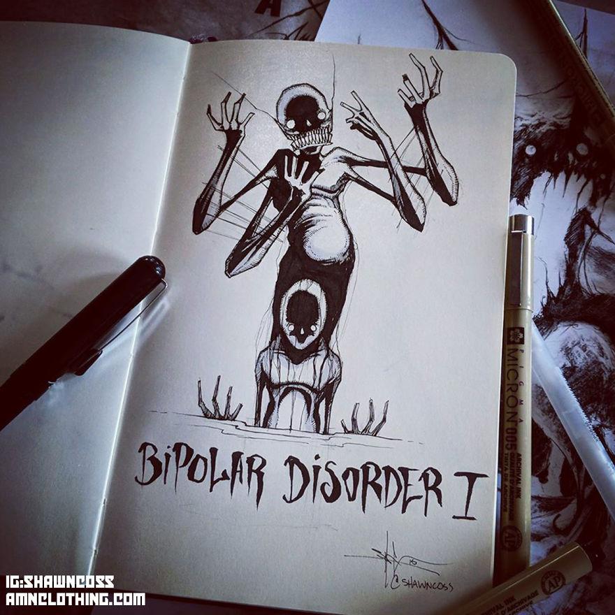 ilustrasi mentall illness seperti awkarin © Instagram/@shawncoss