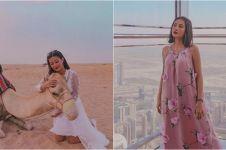 15 Potret Awkarin kunjungi Dubai, tampil lebih anggun dan fresh
