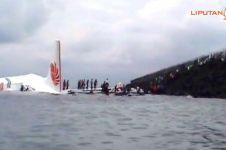 5 Tragedi pesawat jatuh ke laut & sungai, ada yang tak bisa dievakuasi