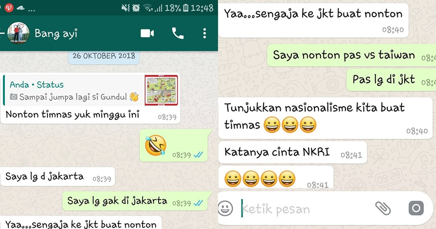 isi chat korban lion air © Instagram/@ajidportiere