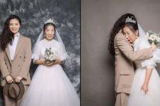 Cewek ini menyamar jadi cowok di foto pernikahan, alasannya bikin haru